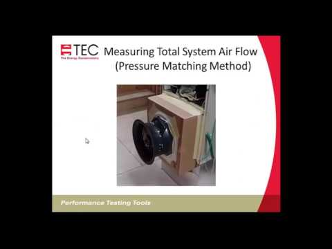TrueFlow - Measuring Air Handler Flow Accurately