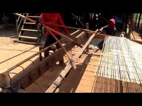 Изготовление циновки из камыша