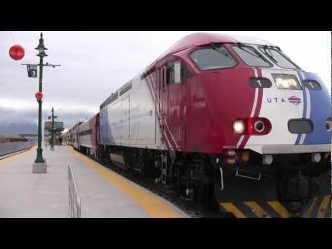 First UTA Frontrunner Passenger Service in Provo, Utah