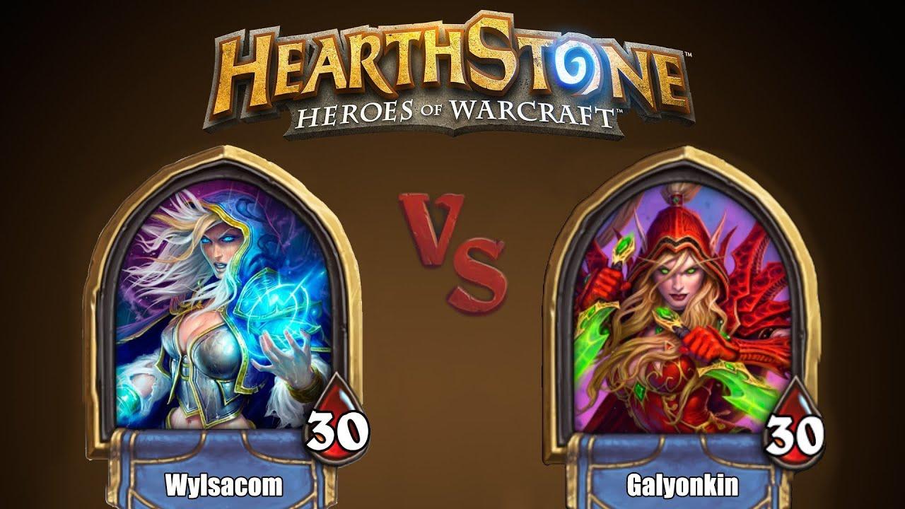 Wylsacom vs. Galyonkin в Heartstone (поговорим за игры)