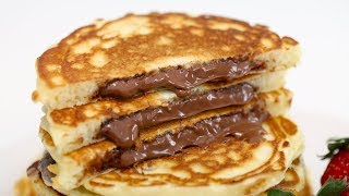 (EASY!!) NUTELLA-STUFFED PANCAKES RECIPE | HOW TO MAKE NUTELLA PANCAKES RECIPE | NUTELLA PANCAKES