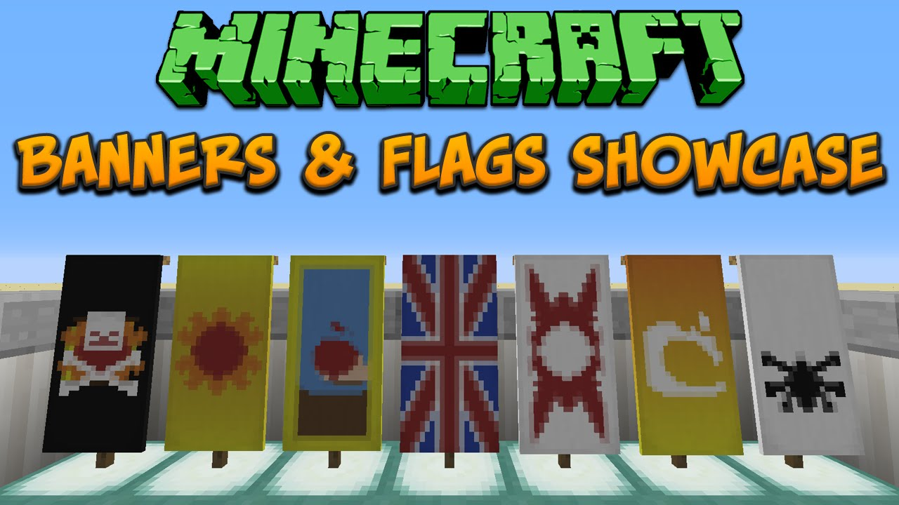 minecraft 1 8 banners flags showcase tutorial youtube