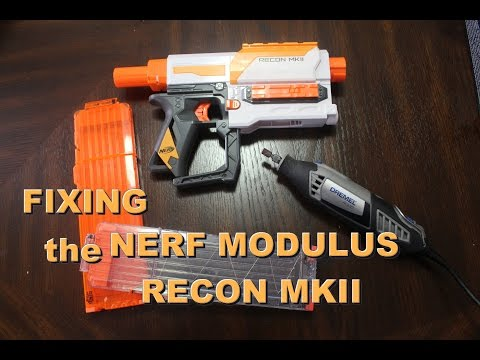 [MOD] Fixing the Nerf Modulus Recon MkII (Making it work with 18 Dart Mags)