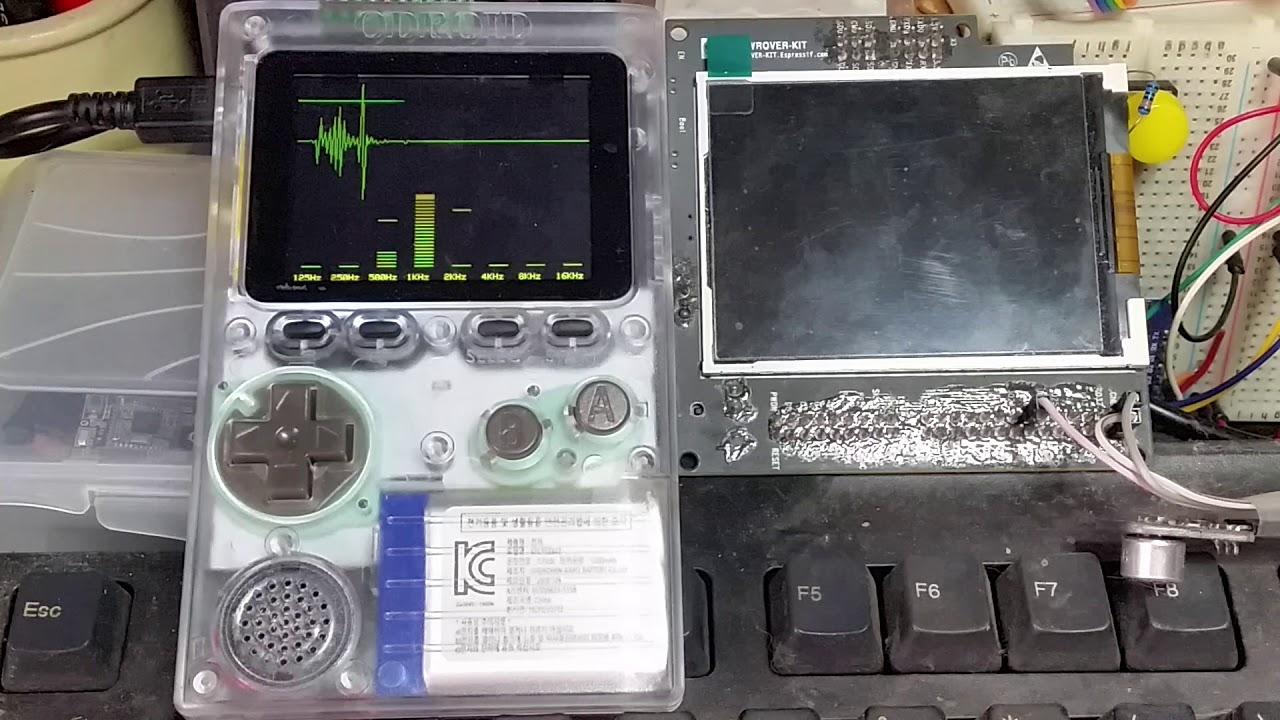 ESP32 Audio Spectrum on ODROID-GO [3/3] | Coding Videos