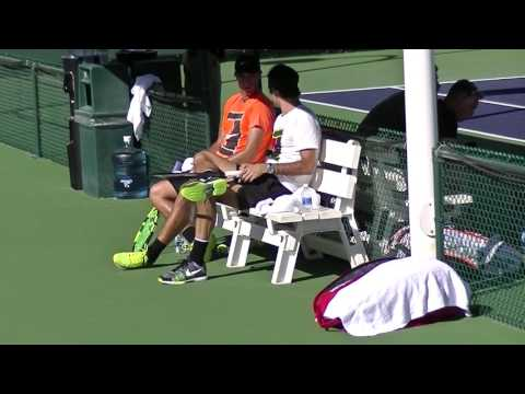 Roger Federer practice at BNP Paribas Open, Indian Wells 2017