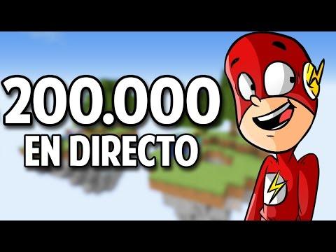 ESPECIAL 200.000 SUSCRIPTORES EN DIRECTO 2.0 | MINECRAFT