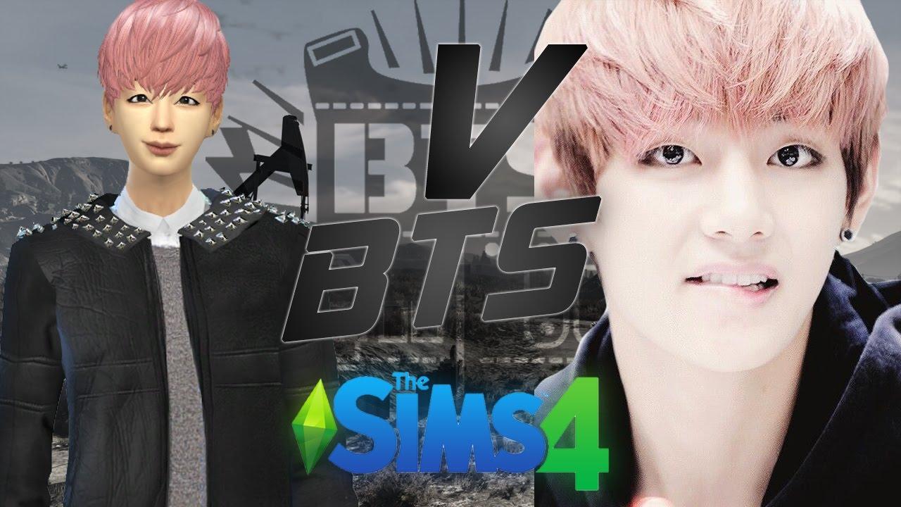 The Sims 4 Create a Sim Kpop V BTS YouTube