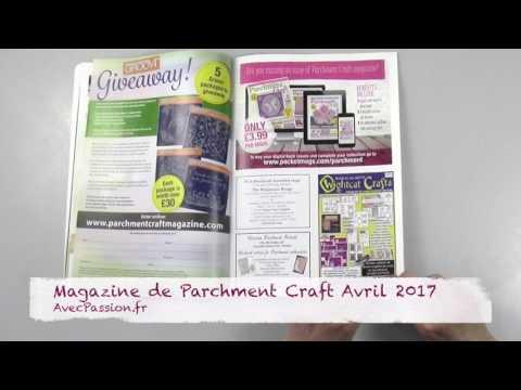 Magazine Pergamano Parchment craft avril 2017