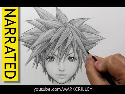 How To Draw Sora From Kingdom Hearts Youtube