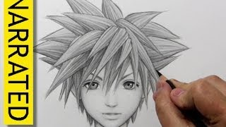 "How to Draw Sora from ""Kingdom Hearts"""