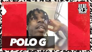 Polo G Dodges Someone With Choppa Mid-Interview + Talks 'The GOAT'