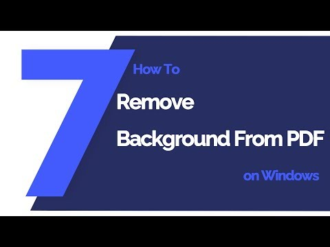 Top Way to Remove Background from PDF Files | Wondershare PDFelement
