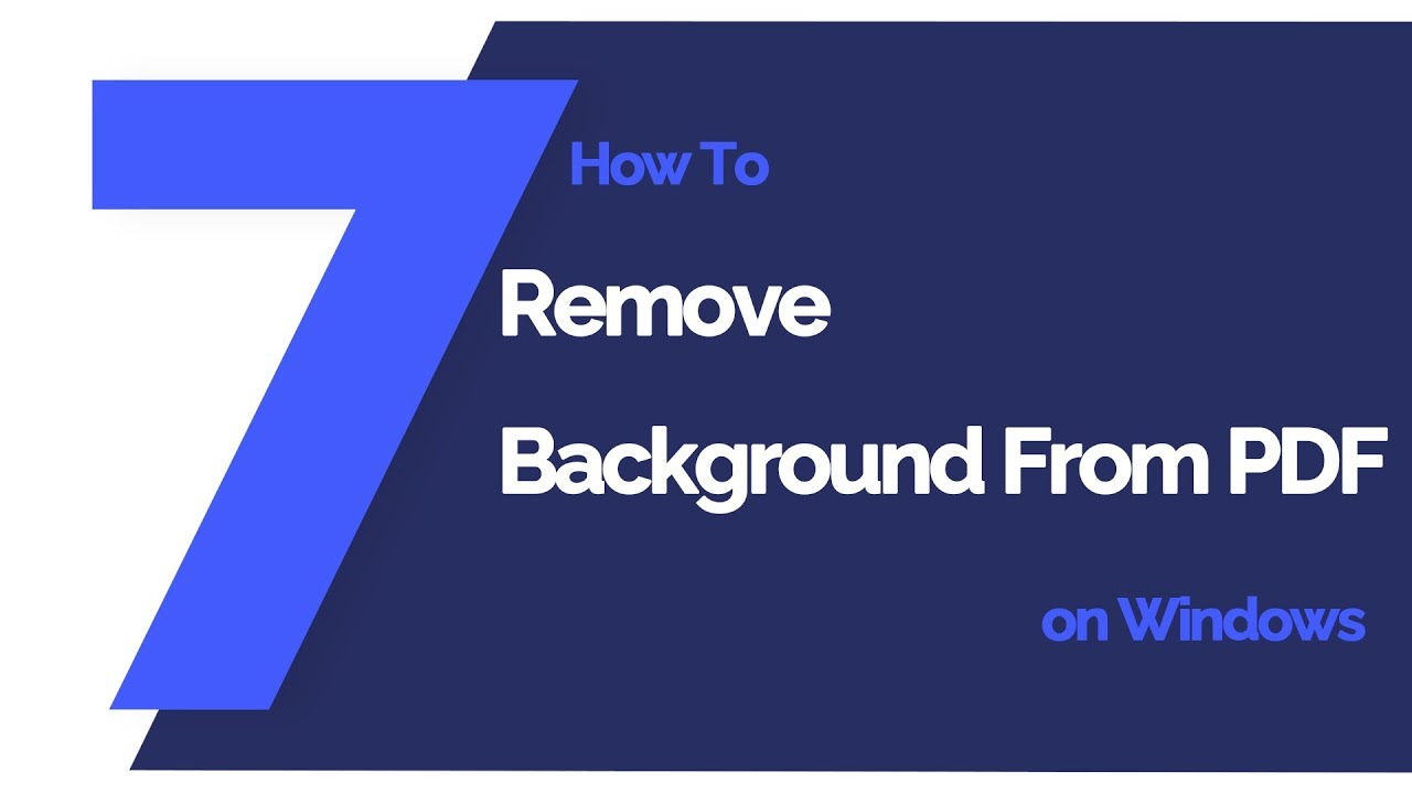 Top Way to Remove Background from PDF Files 2019