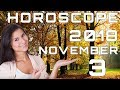 Today's Daily Horoscope 3 November 2018 Each Zodiac Signs