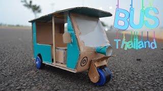 Wow!! Cara Membuat Bus Thailand - Diy Mainan kendaraan Keren