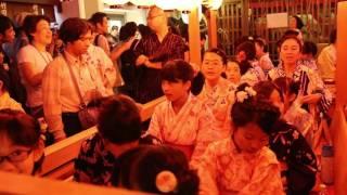平成28年7月23日に行われた祇園祭・後祭宵山における南観音山のろ...