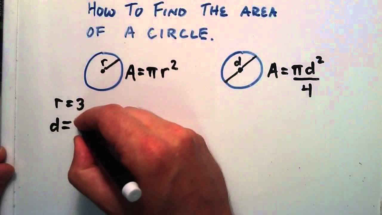 How to find the area of a circle given a radius or a diameter how to find the area of a circle given a radius or a diameter youtube ccuart Images