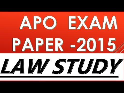 UP APO EXAM PAPER 2015 SOLVE