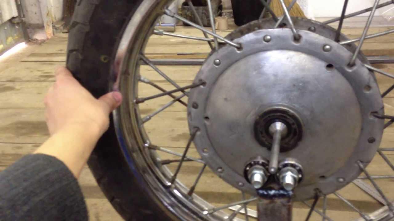Собираем колесо! Мотоцикл минск. - YouTube