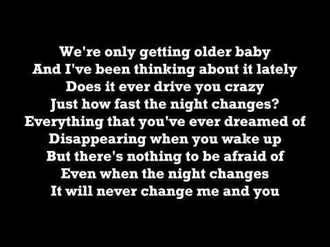 One Direction  Night Changes Lyrics