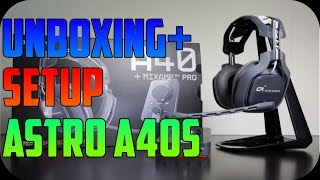 2015 Astro A40 Unboxing & Setup Tutorial for PS4