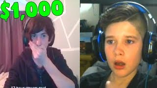 DONATING ROBLOX TWITCH STREAMERS $1,000! *REACTIONS*