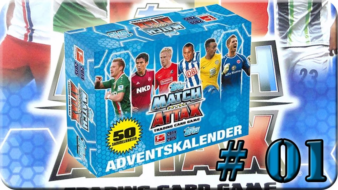 Match Attax Weihnachtskalender.Adventskalender Match Attax 14 15 01 12 2014