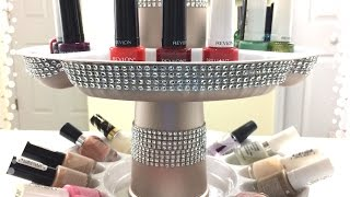 GLAM|Dollar Tree Rotating Nail Polish Organizer DIY