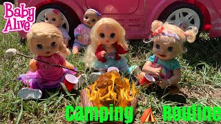 Baby Alive Camping Routine