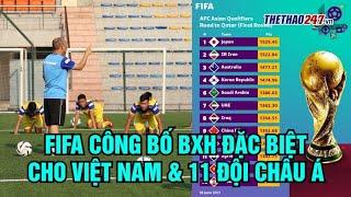 FIFA công bố BXH đặc biệt cho Việt Nam và 11 đội châu Á