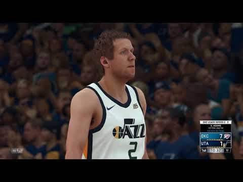 30ab35bee NBA 2K18 Western Conference Playoffs 1st Round Oklahoma City Thunder vs  Utah Jazz Game 3