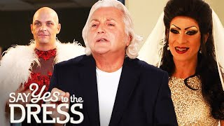 🔴David Emanuel Helps Two Drag  Queens Find the Dress of Their Dreams | Say Yes To The Vegas Dress