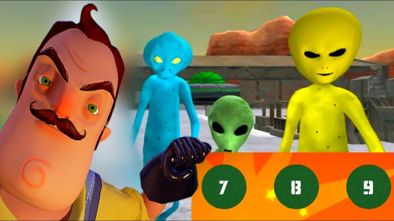HELLO ALIEN NEIGHBOR Area 51 Escape - Level 7-9 Gameplay - Walkthrough [Android - iOS Game] Granny
