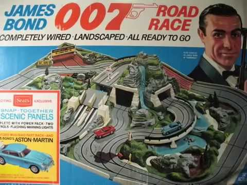 Vintage Sears James Bond 007 Road Race 1965 Set By AC Gilbert