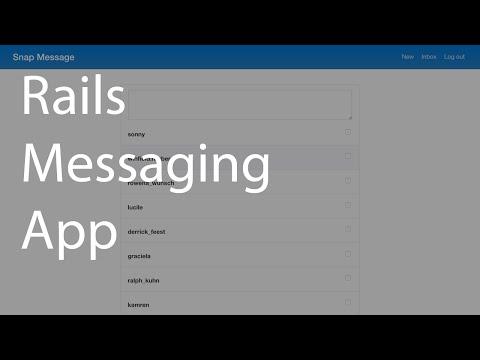 Rails Messaging App