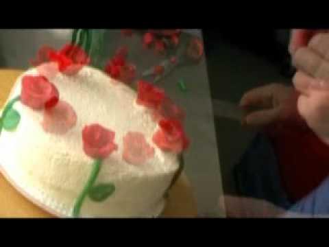 Hochzeitstorte Mit Marzipanrosen Selber Machen Youtube