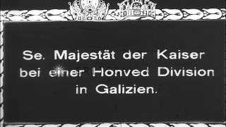 Kaiser Karl I of Austria, reviews troops of the Royal Hungarian Honved Division  ...HD Stock Footage