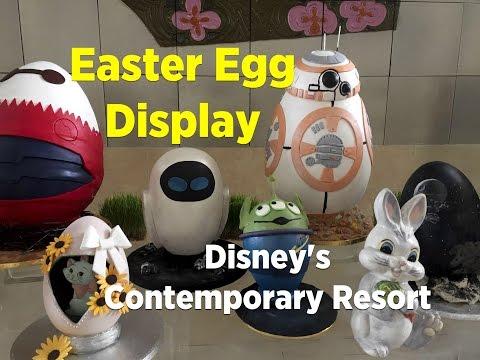 Easter egg display at the Contemporary Resort, Walt Disney World