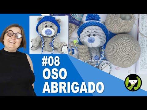 OSO NAVIDEÑO AMIGURUMI 08 oso tejido a crochet