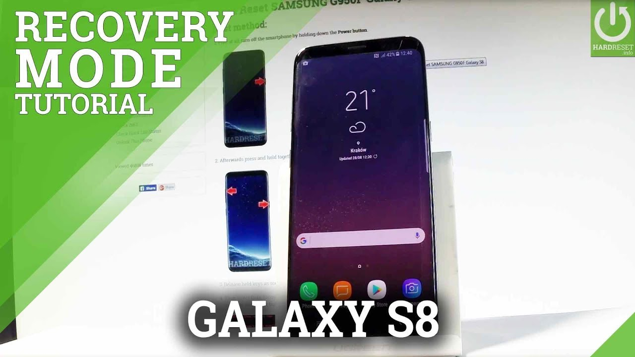 Recovery Mode SAMSUNG G950F Galaxy S8 - HardReset info
