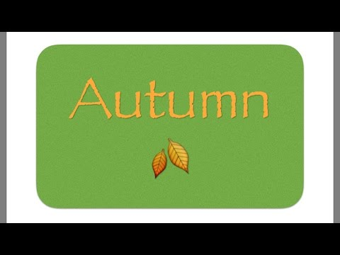 Educational Autumn Video