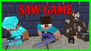 Monster School - NOOB & PRO The SAW Challenge - Minecraft Animation