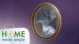 50/50 Project: Antique Distressed Mirror | Home Made Simple | Oprah Winfrey Network