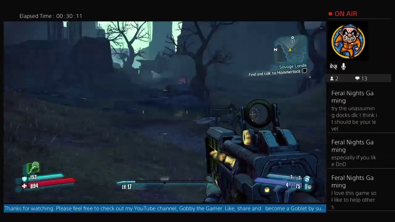 evilzargon66's Live PS4 Broadcast of Borderlands 2