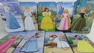 9 Disney Princess Magnetic Paper Dolls Dresses Elsa Ariel Aurora Cinderella Belle Rapunzel