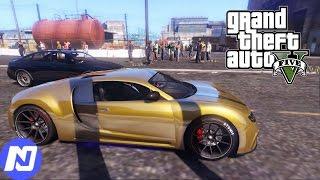 GTA 5 - Làm bảo vệ chôm được siêu xe Bugatti Veyron đi đua xe ở cảng   ND Gaming