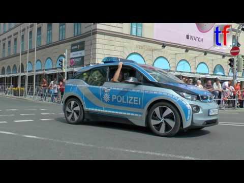 FIRETAGE PARADE München: e-Car BMW i3 Police / Polizei,  29.05.2016.