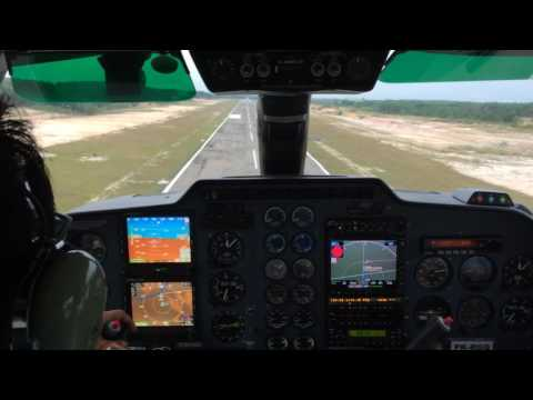 Visual approach with Britten Norman Islander Turboprop