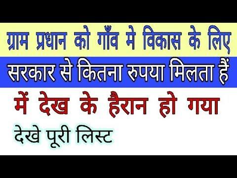 आप के गांव के विकास के लिए ग्राम प्रधान को कितना रूपया Milta हैं Gram  panchayat ki jankari