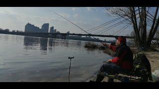 фидер в центре Киева Рыбалка Плотва 30 03 2021